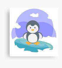 Freezing in the iceberg Canvas Print