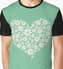 Heart of white flowers  Graphic T-Shirt