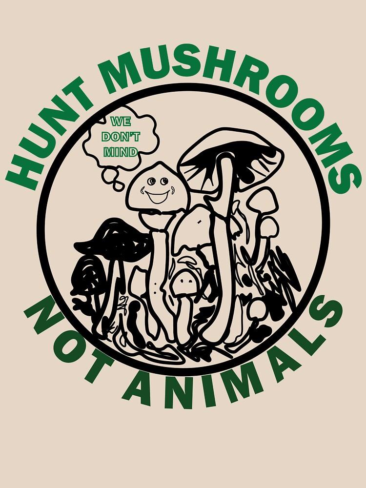 Hunt Mushrooms Not Animals, t-shirt wearing by Pete Davidson  by ahcene2020