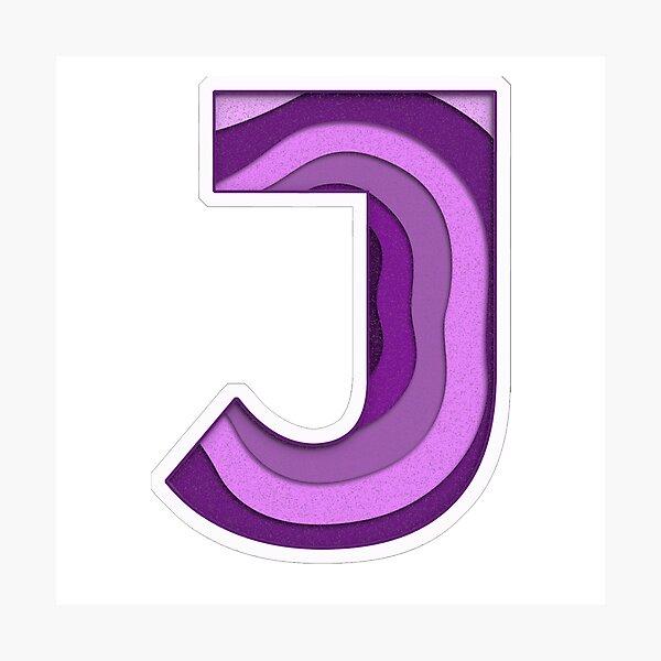 "The Letter ""J"" Novelty Fun Monogram Photographic Print"