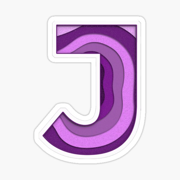 "The Letter ""J"" Novelty Fun Monogram Sticker"