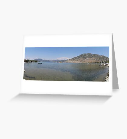 Panoramic Seascape of The Bay of Selimiye, Turkey Greeting Card