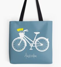 Amsterdam - bicycle with tulips Tote Bag