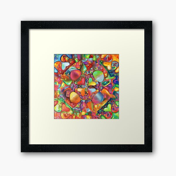 Hearts on a Ferris wheel Framed Art Print