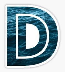 "The Letter ""D"" Ocean Sticker"