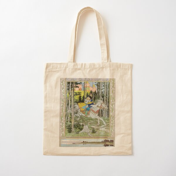 Ivan Tsarevich Steals Marya Morevna Ivan Bilibin Cotton Tote Bag