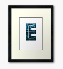 "The Letter ""E"" Ocean Framed Print"