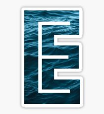 "The Letter ""E"" Ocean Sticker"