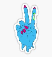 Acid Zombie Peace Hand Sticker