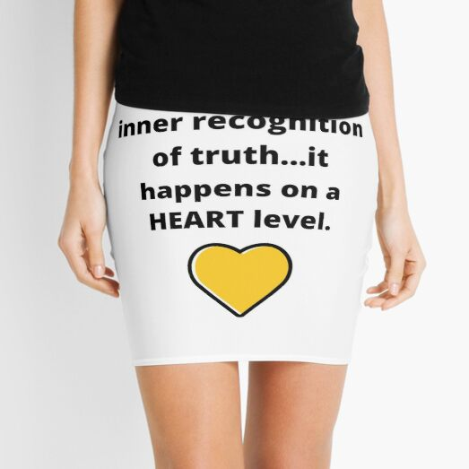 Knowing Is An Inner Recognition Of Truth Quote Mini Skirt