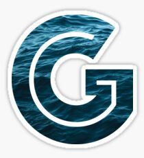 "The Letter ""G"" Ocean Sticker"