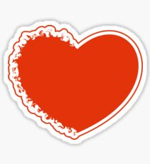 Red burning heart Sticker