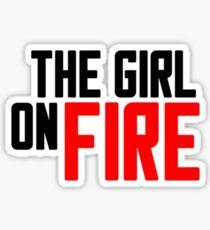 The Girl on Fire Sticker