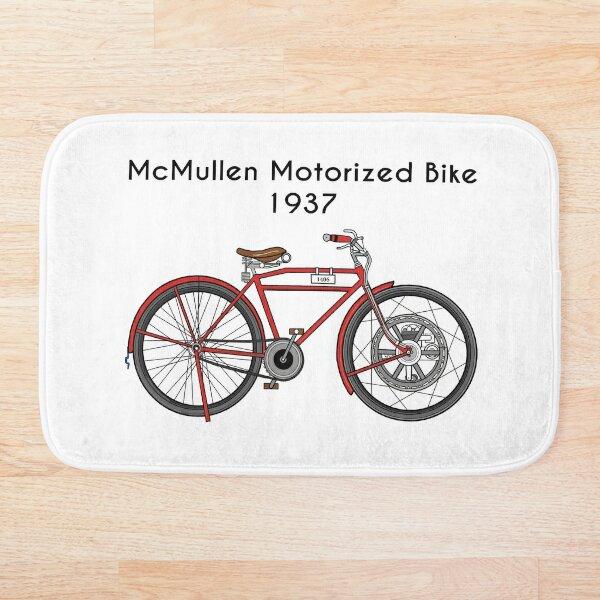 1937 Motorbike - McMullen Motorized Bike Bath Mat