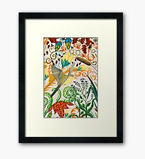 Yellow Wagtail and Mosquito Framed Print