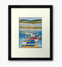 Yachts at Lymington Harbour Framed Print