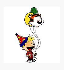 Calvin and Hobbes Party Photographic Print