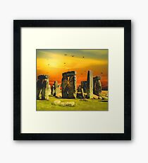 Surrealistic Stonehenge Framed Print