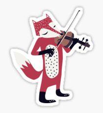Red foxy violinist Sticker