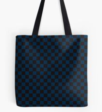 Check pattern. Checked Square. Checkered pattern. Black and blue. Checkerboard pattern. Chessboard pattern. Tote Bag