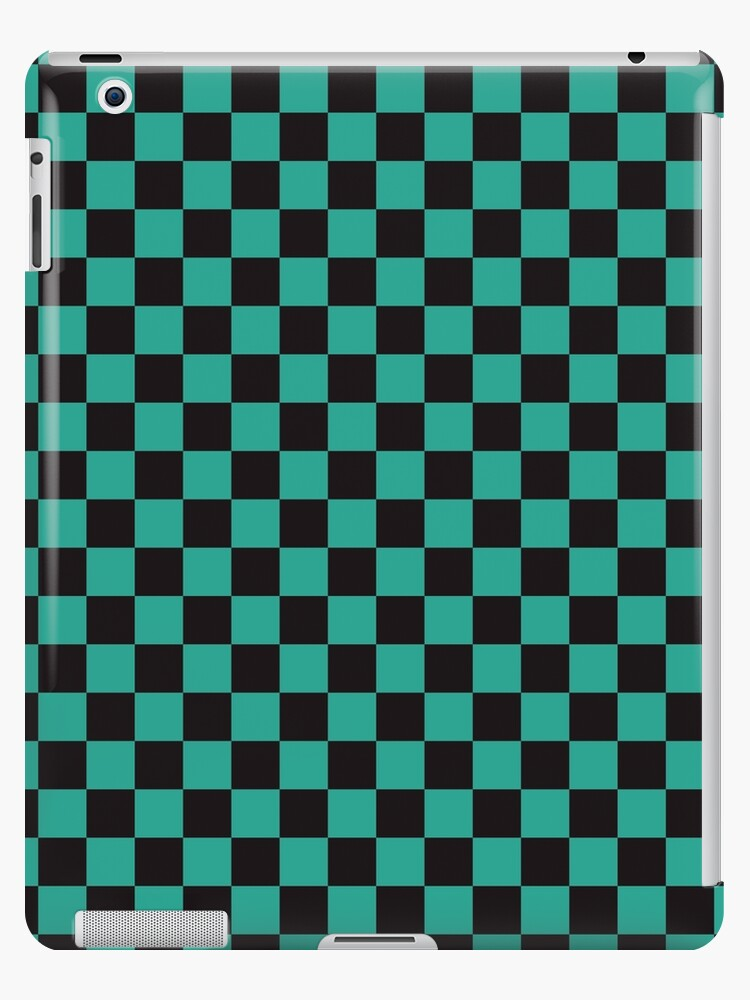 47563f437 Minimalist check pattern. checkered square, Green and black. Checkered  pattern.