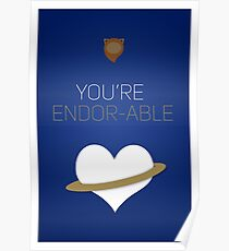 You're Endorable - Star Wars Love Poster