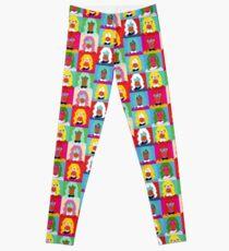Pop art woman pattern Leggings