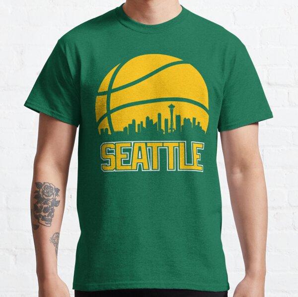 Retro Sonics Basketball Seattle City Skyline Classic T-Shirt
