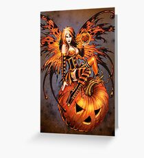 Fairy of Halloween Pumpkin Greeting Card