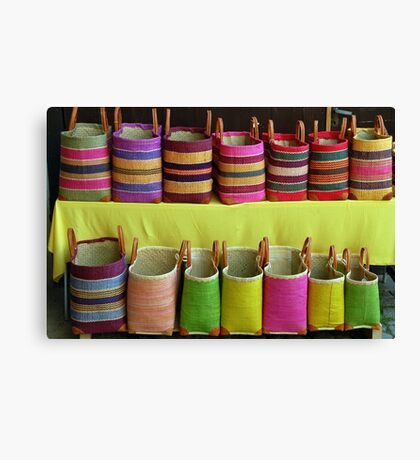 Shopping-bags in the Alsace Canvas Print