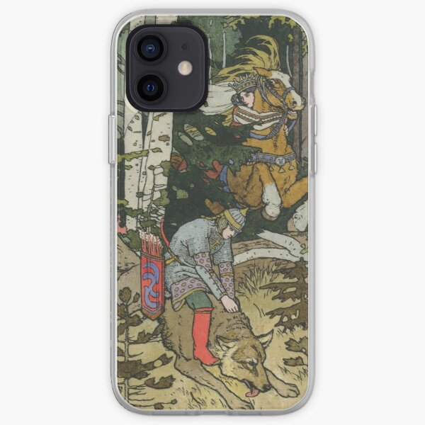 Ivan Tsarevich with Princess Elena and the Grey Wolf Ivan Bilibin iPhone Soft Case