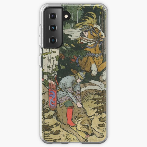 Ivan Tsarevich with Princess Elena and the Grey Wolf Ivan Bilibin Samsung Galaxy Soft Case