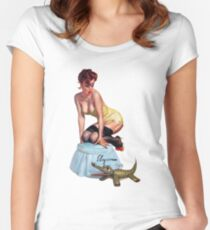 pin up girl Women's Fitted Scoop T-Shirt