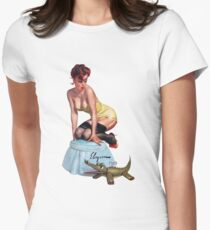 pin up girl Women's Fitted T-Shirt