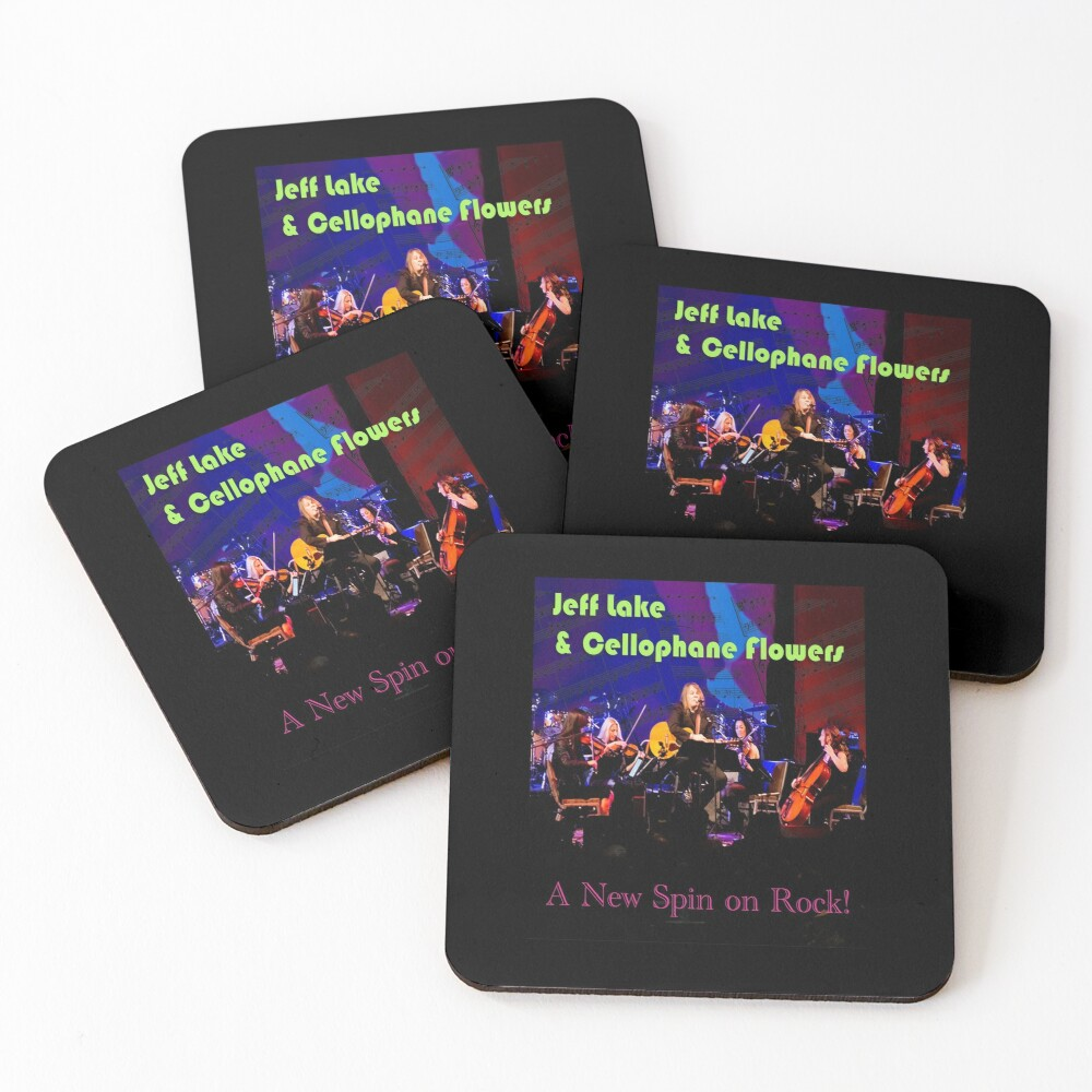 Jeff Lake & Cellophane Flowers Coasters (Set of 4)