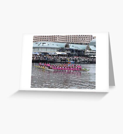 Reflecting on Flowers on the Water. Greeting Card