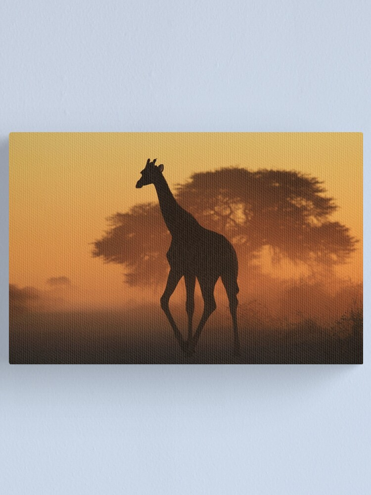 Alternate view of Giraffe - African Wildlife Background - Triangles in Nature Canvas Print