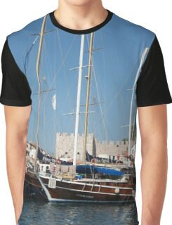 Traditional Turkish Gulets In Marmaris Harbour Graphic T-Shirt