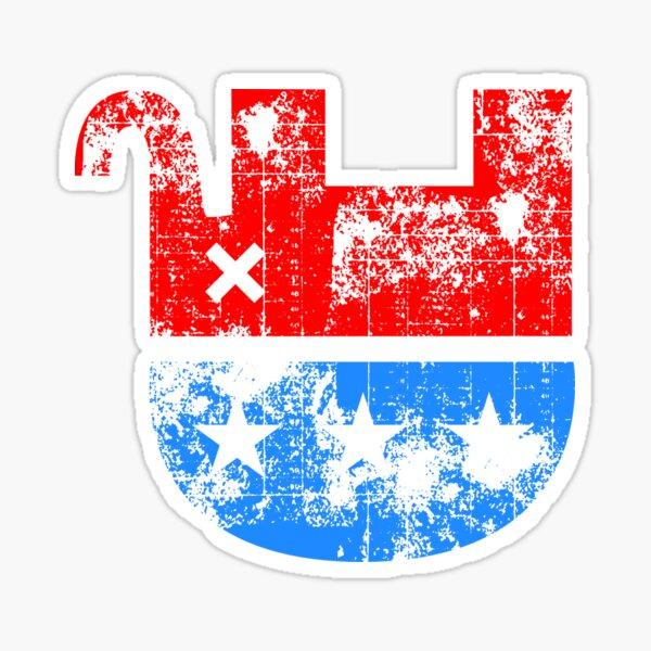Unhappy Republican Elephant Glossy Sticker