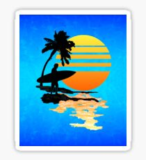 Surfing Sunrise Sticker