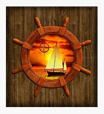 Sailboat Sunset Photographic Print