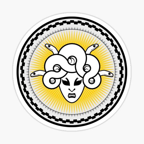 Medusa Shield in Gold Sticker