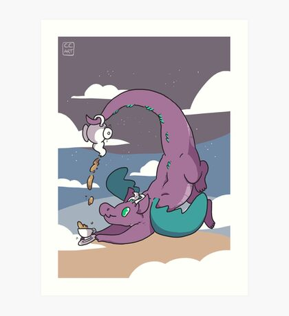 Teapot Dragon Art Print