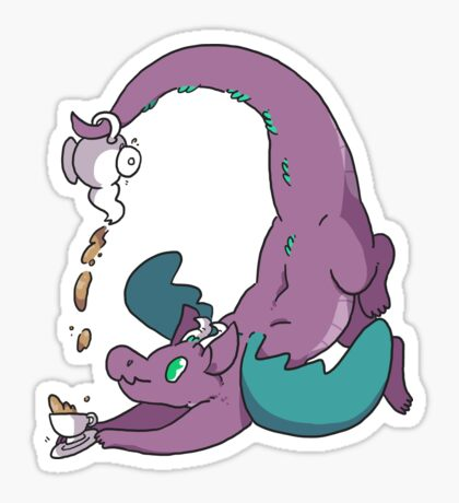 Teapot Dragon Sticker