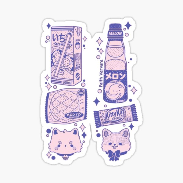 Chinese Food Anime Design Sticker