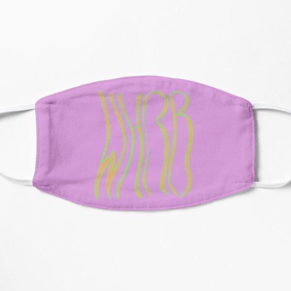 Wavy WHRB Pink Orange Green Flat Mask