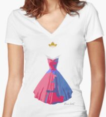 Make it Pink! Make It Blue! Women's Fitted V-Neck T-Shirt