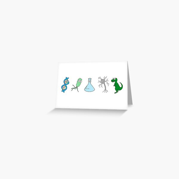 Cute Science - On White Greeting Card