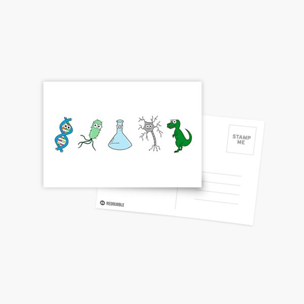Cute Science - On White Postcard