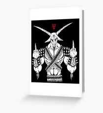 Baphomet Left Hand Path Greeting Card